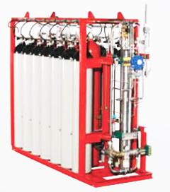 Газоприводной насосный агрегат системы HI-FOG®, работающий под высоким давлением.