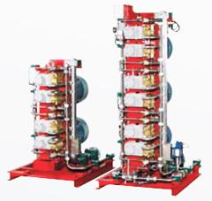 Блочный электрический насосный агрегат системы HI-FOG®, работающий под высоким давлением.